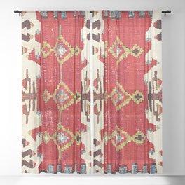 Burdur  Antique South West Anatolia Turkish Kilim Print Sheer Curtain