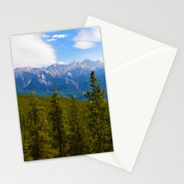 Collin Range as seen from the Palisades in Jasper National Park, Canada Stationery Cards