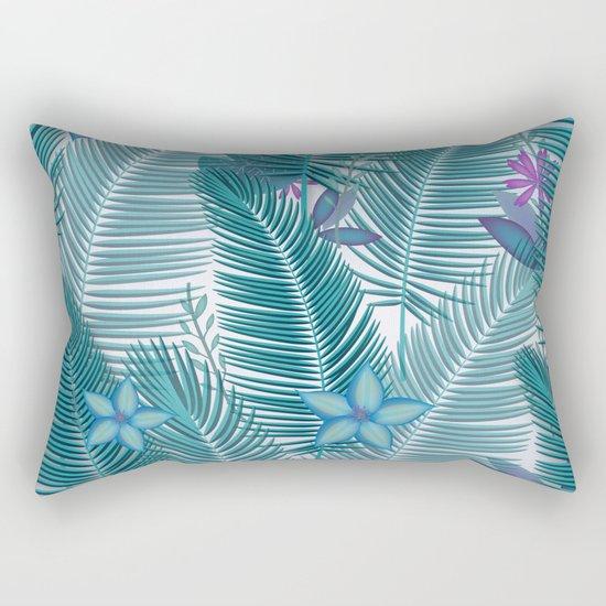 Tropical Flora Rectangular Pillow