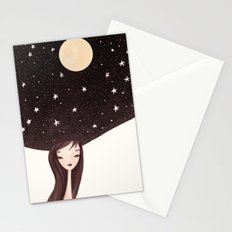 night hat Stationery Cards