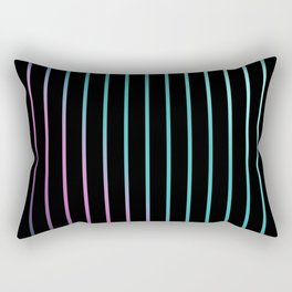 Rainbow . Striped rainbow pattern . Black background pattern Rectangular Pillow
