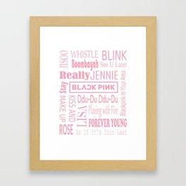 Black pink collage Framed Art Print