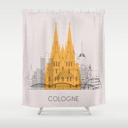 Cologne Landmarks Poster Shower Curtain