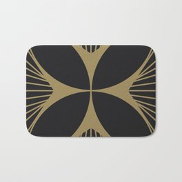 Diamond Series Floral Cross Gold on Charcoal Bath Mat