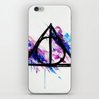 deathly hallows iPhone & iPod Skins featuring Deathly Hallows by Sterekism