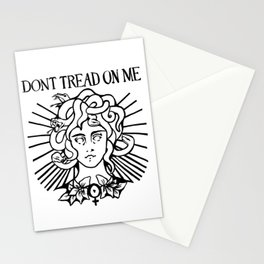 Medusa: Don't Tread On Me (White) Stationery Cards
