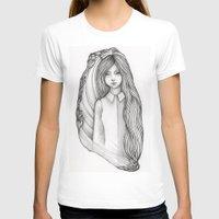 flora T-shirts featuring Flora by Eszter Mezei