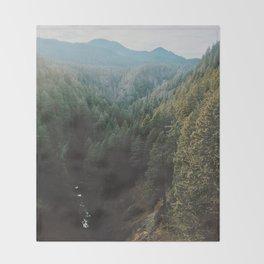 Salt Creek Falls Lookout Throw Blanket