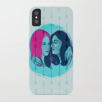lydia martin iPhone & iPod Cases featuring TW - Allison and Lydia by days & hours