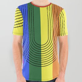 LGBTQ + Rainbow Love is Love All Over Graphic Tee