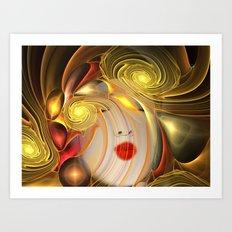 Colorful Woman Art Print