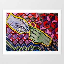 Giving  Art Print