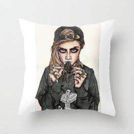 Cara Delevingne x Terry Richardson Throw Pillow