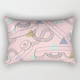 vintage phones Rectangular Pillow