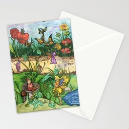 Day in the garden Stationery Cards