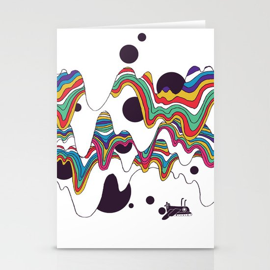 Psychedelic Planet Stationery Cards