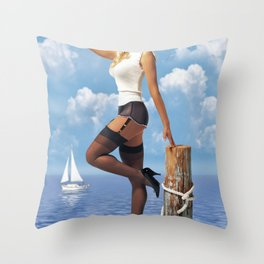 Skipper Throw Pillow