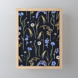 Wild Grain Meadow - Dark Framed Mini Art Print