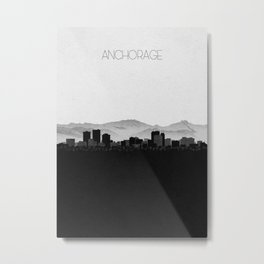 City Skylines: Anchorage Metal Print