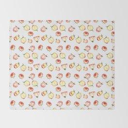 Vintage rose buds pattern Throw Blanket