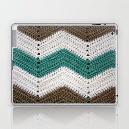 Diagonal Crochet Throw Laptop & iPad Skin