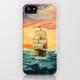 Pirating by Sunset iPhone Case