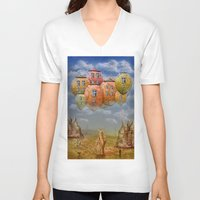 home sweet home V-neck T-shirts featuring Sweet Home by teddynash