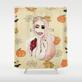 Happy Halloween (smile)  Shower Curtain