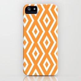 Orange Diamond Pattern iPhone Case