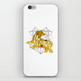 Hufflepuff Black Splatter iPhone Skin