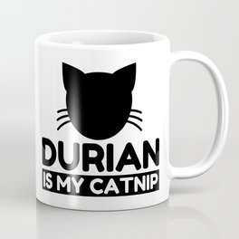 durian Lover Funny Cat Gifts Coffee Mug