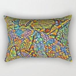 Colorful Scales Rectangular Pillow