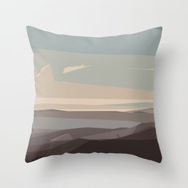 brown blue and dark brown abstract background Throw Pillow