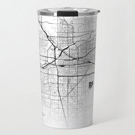 Map of the City Neck Gaiter Bakersfield Calfornia Map Neck Gator Travel Mug