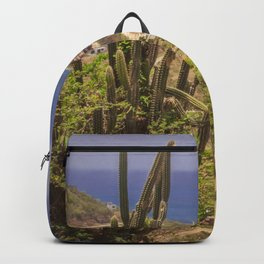 Island View with Cactus Backpack