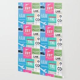 AMS Amsterdam Schiphol Airport sticker ff Wallpaper