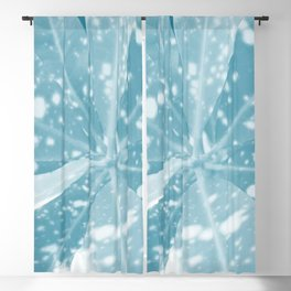 Spotted Leaves. nature, blue, white, decor, art, leaves, leaf, society6 Blackout Curtain