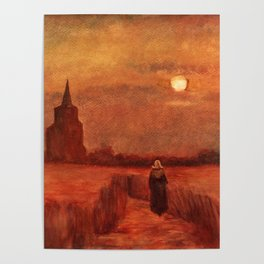 The Old Tower in the Fields by Vincent van Gogh Poster