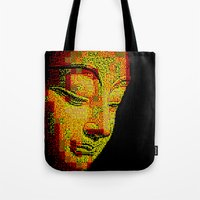 buddah Tote Bags featuring Buddah II by noirlac