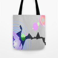 plain Tote Bags featuring Distant Plain by Lior Blum