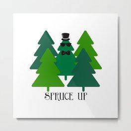 Spruced Up Tree Metal Print
