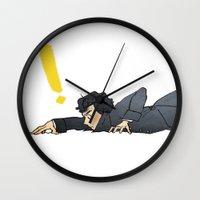 sherlock Wall Clocks featuring SHERLOCK by ireallyshouldbedrawing