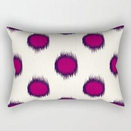 Ikat Dots Raspberry Plum Rectangular Pillow