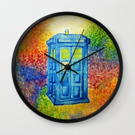 Inconspicuous Blue Police Box (Not a Tardis) Wall Clock