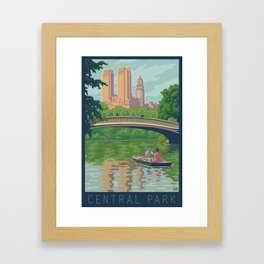 Bow Bridge, Central Park Framed Art Print