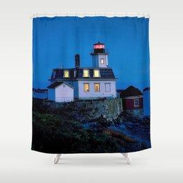 Rose Island Lighthouse; Narragansett Bay, Rhode Island Shower Curtain
