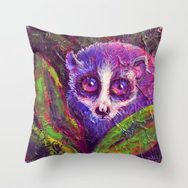 Slow Loris Throw Pillow