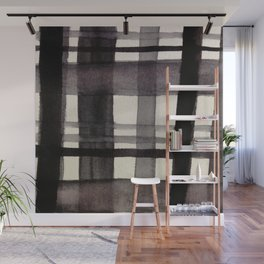 Painterly Plaid Wall Mural