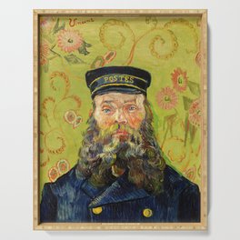 The Postman (Joseph Roulin) (1888) by Vincent Van Gogh. Serving Tray