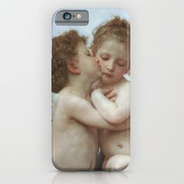 CUPID AND PSYCHE AS CHILDREN - WILLIAM ADOLPHE BOUGUEREAU  iPhone Case